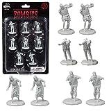 Monster Protectors DND Miniatures- Mini figuras de zombies, tamaño hexagonal de 1' para mazmorras y dragones D&D, Pathfinder, y todos los juegos de mesa RPG (8 unidades)