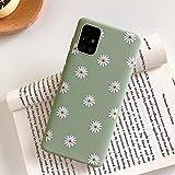 ZTOFERA Hülle für Samsung A52, Gänseblümchen Blume Design Schlank Hülle, Weich Flexibel Anti-Kratzer Bumper Schutzhülle für Samsung Galaxy A52 5G/4G - Grün