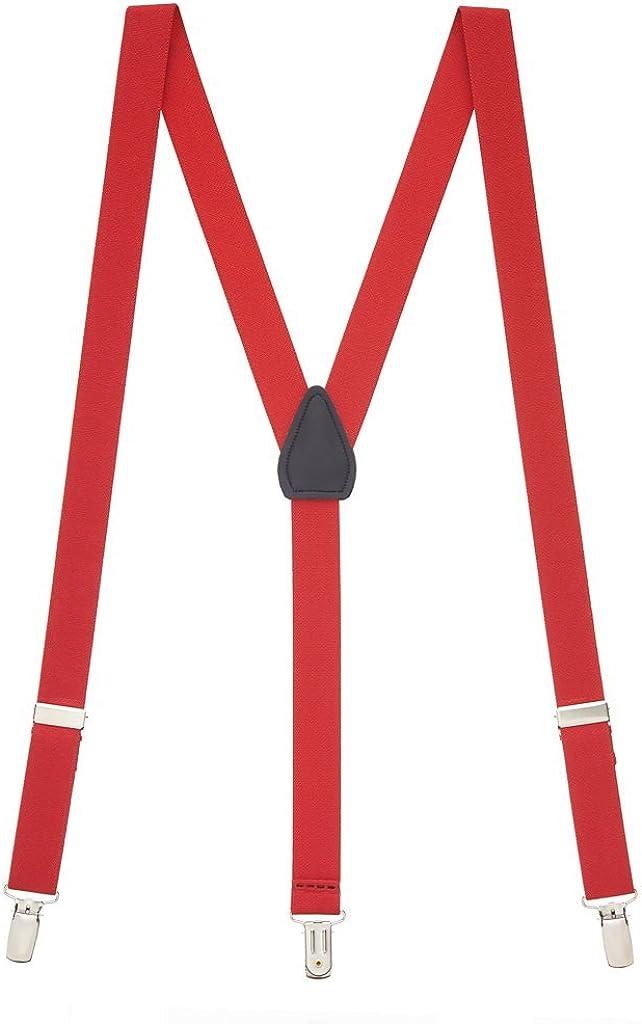 Red Solid Suspenders Gothic Emo Punk Rocker Unisex