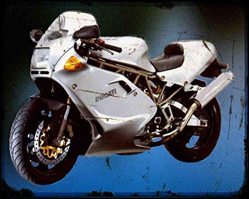 Red Rat Ducati 900Ss 97 3 A4 Metallschild Motorrad Vintage Aged