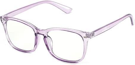 Cyxus Computer Glasses Blue Light Blocking for Women Men Gaming Eyewear Reduce Eyestrain (8082T85, Crystal Purple)