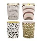 Bloomingville kleine Becher Susie, rosa rot lila ocker, Keramik, 4er Set
