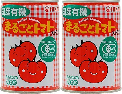 無添加 無塩 国産 まるごとトマト 400g×2個 ★ 宅配便 ★ 有機JAS認定品・国産有機トマト100%・完熟トマトの風味豊か