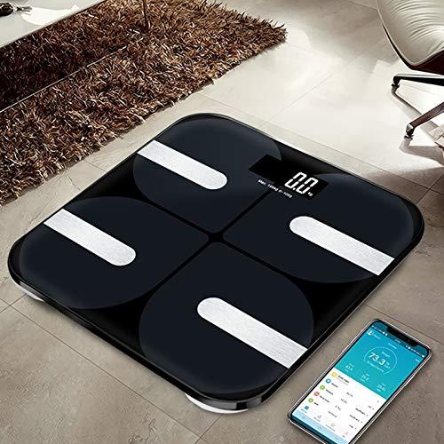 Bascula GrasaBáscula electrónica de peso de baño Lcd Báscula digital inteligente Balance de peso de grasa corporal Báscula de piso Bluetooth