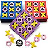 Tic Tac Toe - (Bulk Pack of 24) 5' x 5' Foam Tic-Tac-Toe Mini Board Game Toys in Neon Colors for Kids, Birthday Party Favors, Goody Bag Stuffers, Classroom Prizes & Occupational Therapy, Stocking Stuffers by Bedwina