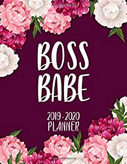 Boss Babe 2019-2020 Planner: Cute Floral Peonies Bordeaux Daily, Weekly and Monthly Planner. Pretty Two Year Organizer, Schedule and Agenda with ... Vision Boards, ... (Female Empowerment Gifts)
