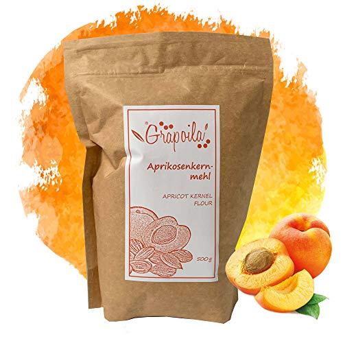 Aprikosenkernmehl 500g | natürlich ohne Zusätze | vegan | glutenfrei | süßen Aprikosekern hergestellt | aus Ungarn | Aprikosenkernpulver | gemahlen
