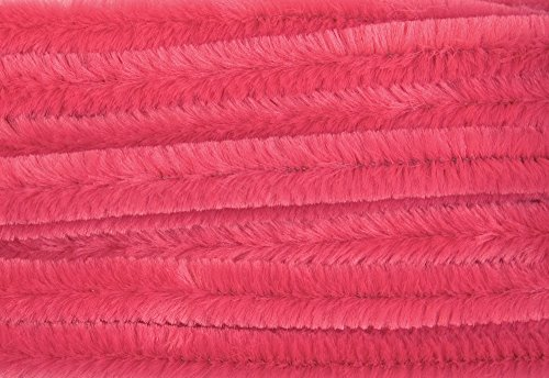 Chenilles / Pipe Cleaners - Pink 12mm x 300mm - 15 Per Pack