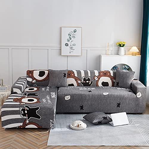 Elastische Stretch-Sofabezug, L-Förmige Sofabezug, Geeignet für 1/2/3/4 Sitzplätze und L-Förmiges Ecksofa (L-Förmiges Ecksofa Muss in Zwei Teilen Gekauft Werden)