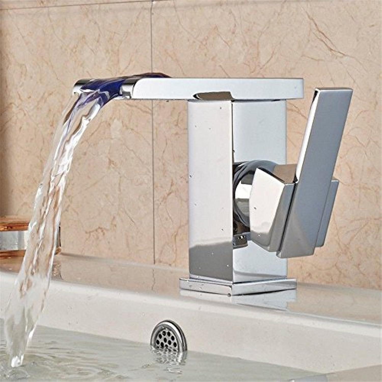 NewBorn Faucet Wasserhhne Warmes und Kaltes Wasser groe Qualitt LED Wasserhahn Light-Emitting Wasser Drache Tri-Farbe Doppeltipp-Bewegung