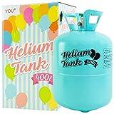 YOU+ ヘリウムガス バルーン・風船用 使い捨て ヘリウム缶 補充用 (400L)