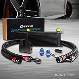 16 Row Aluminum Transmission Oil Cooler Kit Compatible For BMW N54 Engine Twin Turbo 135 335 3 Series E82 E90 E92 E93 2006 2007 2008 2009 2010 2011