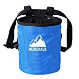 Togear Chalk Bag for Rock Climbing, Weightlifting, Bouldering & Gymnastics with Drawstring Closure, Quick-Clip Belt and Valuables Securely Holding Zippered Pocket