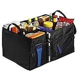 Hama Kofferraumtasche groß (Faltbare Autotasche, Kofferraum-Organizer mit Klettbefestigung inkl. Klettband) schwarz