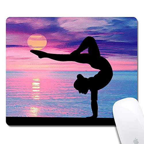Gaming Mouse Pad - Thick Keyboard Mouse Mat Non-Slip Rubber Base Mousepad Rectangle 240x200x3mm Mouse Pad Custome Design Mouse Pad(Gymnastics)