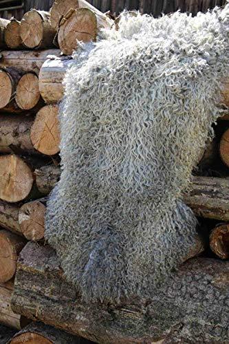 Gotland Schaffell lockig Lammfell Curly Echtfell Unikat Gotlandschaf versch. Größen Größe 120-130