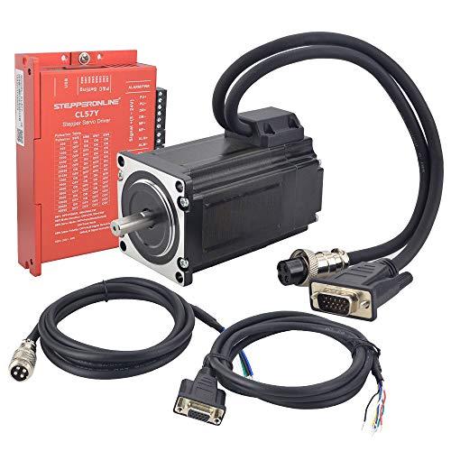STEPPERONLINE 1 Achse Closed Loop Schrittmotor Kit 2Nm 1000CPR Nema 23 Closed Loop Schrittmotor & Schrittmotor Treiber 0-7.0A 24-50VDC für CNC Graviermaschine