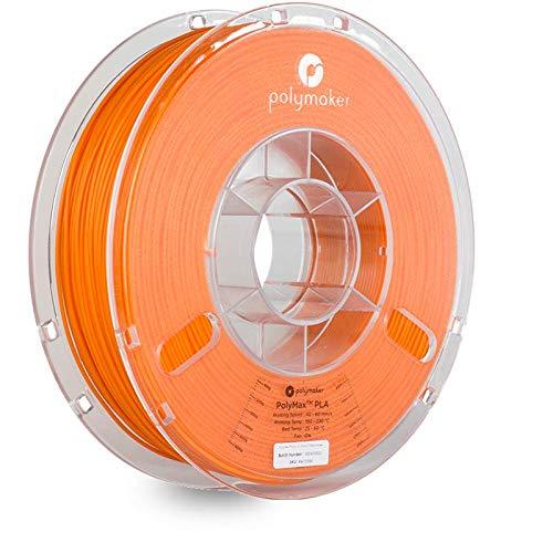 Polymaker PolyMax PLA 3D Printer Filament, fits Most FDM Printer, 3D Printing Filament. PolyMax PLA (1.75, 750g) True Orange