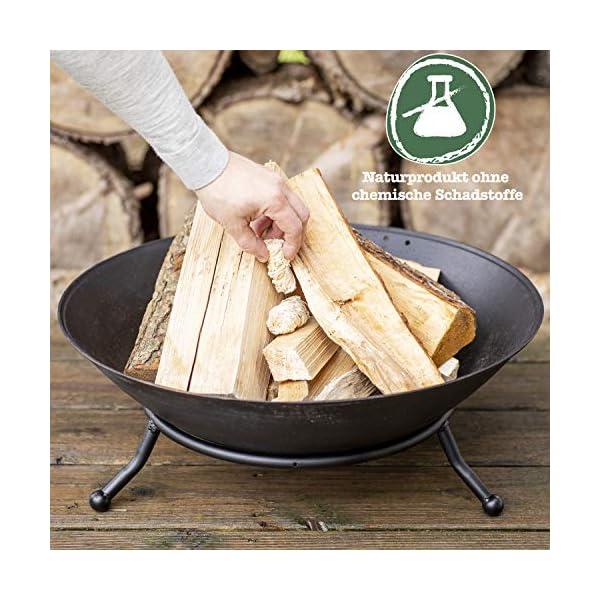 grillas Pastillas de Encendido Ecológicas Enceradas | Encendedores de Barbacoa de Madera Natural | Pastillas de Lana de…