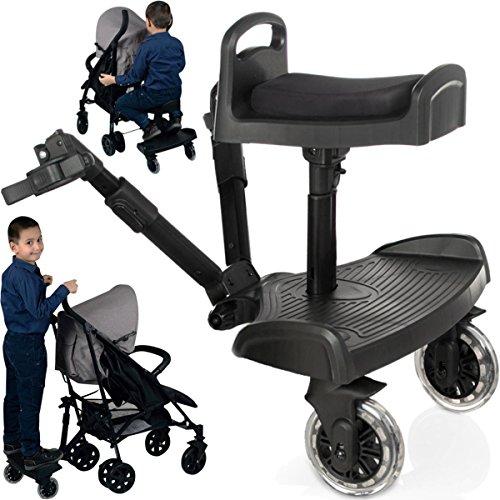 Kinderwagen-Trittbrett, Mitfahr-Sitz für Buggy / Kinderwagen / Kinderjoggingwagen (bis 20kg)