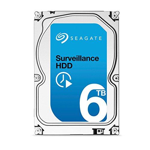Seagate Surveillance HDD - 6 TB - interne Festplatte, ST6000VX001 (3,5 Zoll), 128 MB Cache, SATA III für den Überwachungsbereich