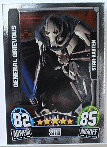 Star Wars Force Attax Movie 3 Einzelkarte 220 GENERAL GRIEVOUS Star-Karte deutsch