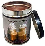 Our Own Candle Company Root Beer Float Scented Candle in 13 Ounce Tin with a Vintage Floats Label