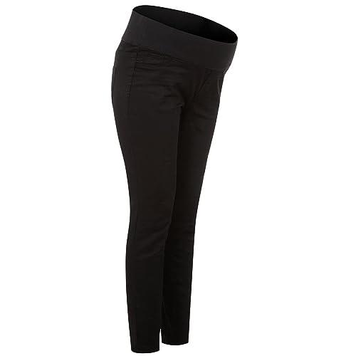 a05b6bf6b24ce Womens Black Under Bump Denim Skinny Leg Maternity Jeans Trousers Jeggings  Size 8 10 12 16
