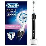 Oral-B PRO 2 2000S Sensi Ultrathin - Cepillo de Dientes Eléctrico Recargable con Tecnología de Braun, 1 Mango, 2 Modos Incluyendo Cuidado de Las Encías Y 1 Cabezal de Recambio