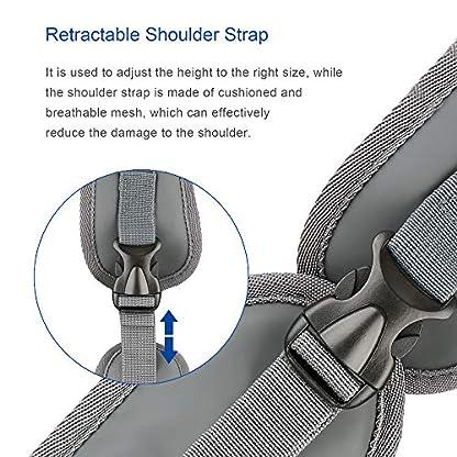 BIGWING Style Pet Sling Carrier for Dog Cat Pets Travel Shoulder Bags (L, Blue) 7