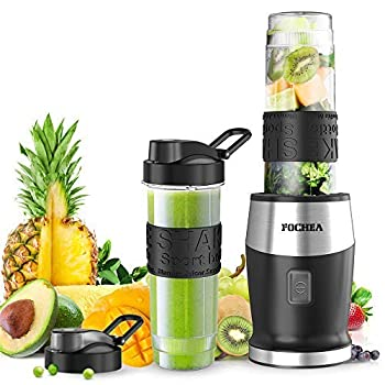 Smoothie Blender Personal Blender Single Serve Small Blender for Juice shakes and Smoothies,with 2 * 20 OZ BPA-Free Portable Blender Bottles 500W