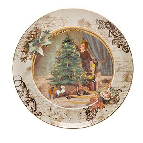 Goebel Weihnachtsbaum Weihnachtsteller Porzellan, bunt, 22,5 cm
