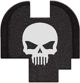 BASTION Laser Engraved Rear Cover Slide Back Plate for Springfield XD-S Mod.2 9mm/40Cal Skull