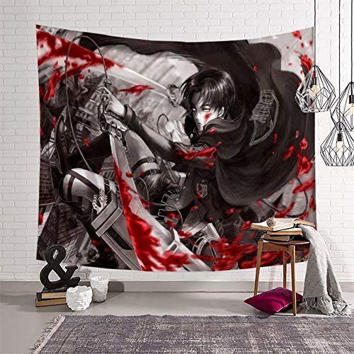 STTYE Tapiz para decoración de pared de Attack on Titan para dormitorio o fiesta, 180 x 230 cm