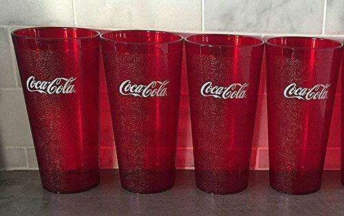Coke Coca Cola Restaurant Becher, Kunststoff, ca. 900 ml, Rot