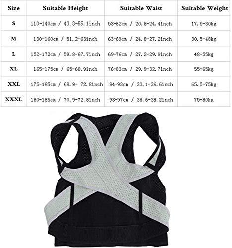Haltungskorrektur für Männer und Frauen, Rückenorthese für Erwachsene Gürtel Schulterstütze Wirbelsäulenstütze Richten Sie den Rücken gerade, für die obere Rückenstütze