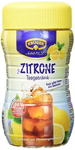 Krüger Teegetränk Zitrone, 8 Liter Ergiebigkeitung (1 x 400 g Dose)
