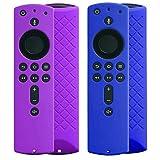 ACAMPTAR Estuche Protector de Silicona de 2 Paquetes para Fire TV Stick 4K, Fire TV Stick (2Da GeneracióN), Fire TV (3Ra GeneracióN) (PúRpura + Azul)
