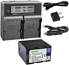 Kastar LCD Dual Fast Charger & Battery 1x for JVC SSL-JVC70 SSL-JVC75 BN-S8I50 GY-HMQ10 GY-LS300 GY-HM200 GY-HM200HW GY-HM200U GY-HM600 GY-HM600E GY-HM620U GY-HM650 GY-HM650SC GY-HM650U GY-HM660SC