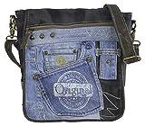 Sunsa Messengertasche Umhängetasche Damen Handtasche Canvas Bag mit Jeans klein Teenager Taschen...