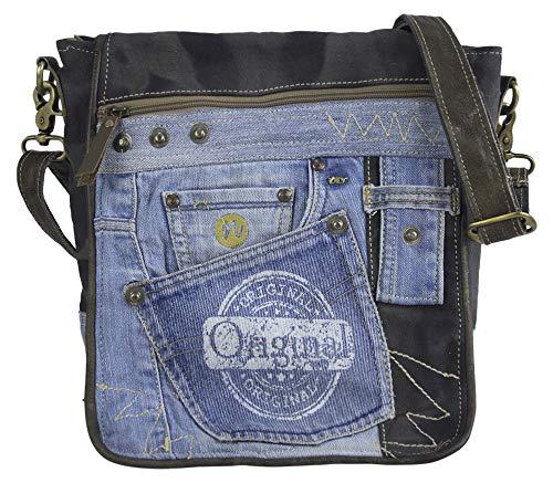 Sunsa Messengertasche Umhängetasche Damen Handtasche Canvas Bag mit Jeans klein Teenager Taschen Bags for Women Messenger Tasche Crossbody Bag Schultertasche praktische Geschenke Damentaschen Sale