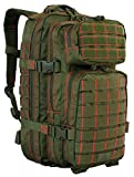 Red Rock Outdoor Gear - Rebel Assault Pack, Olive Drab with Red Stitching
