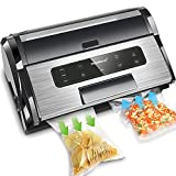Commercial Vacuum Sealer, 13.8'' Professional Vacuum Sealer Machine(85kPa), Automatic Vacuum Sealer Machine w/Built-in Cutter, ETL Listed, Heavy Duty S.S. Vacuum Sealer with Inflation Function