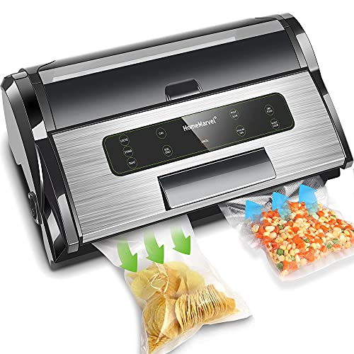 Commercial Vacuum Sealer, Professional Vacuum Sealer Machine(85kPa), Automatic Vacuum Sealer Machine w/Built-in Cutter, ETL Listed, Heavy Duty S.S. Vacuum Sealer with Inflation Function, Starter Kit
