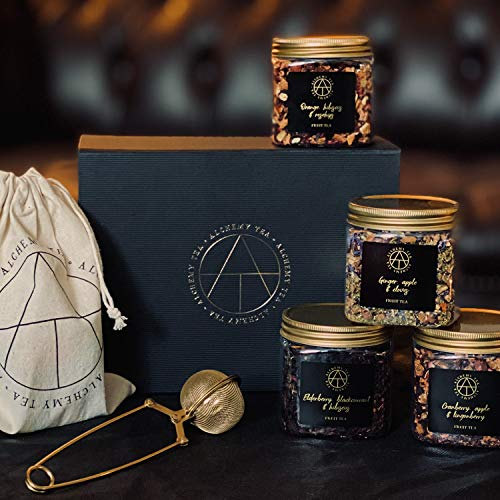 British Summertime Tea Gift Box - Luxury Loose Tea from Alchemy Tea, warming taste of England created by blending fresh fruits such as apples and berries with flowers and spices