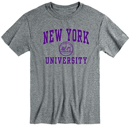 Ivysport NYU Violets New York University Short-Sleeve T-Shirt, Heritage, Charcoal Heather, Large