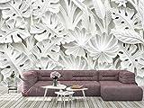 Oedim Papel Pintado para Pared Flores Blancas 3D, Mural, Papel Pintado, Decoración comedores, Salones, Habitaciones