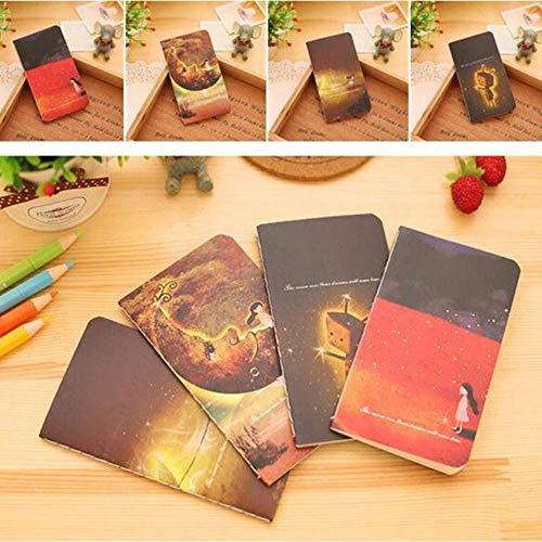 1 Stk. 20 Blatt 12,3 x 7,2 cm Mini Cute Journal Tagebuch Notizbuch mit liniertem Papier Vintage Retro Notepad Buch Student kleines Notizbuch-3