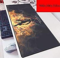 ゲーミングマウスマットラージマウスMat900X400mmマウスパッド、3ミリメートル厚のベースとスピードゲーミングマウスパッド、Mousemat、ノートPC向け、PC (Color : D)