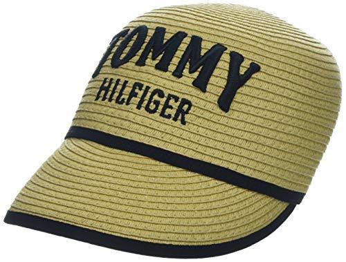 Tommy Hilfiger Damen Straw Baseball Cap, Beige (Natural 901), One Size (Herstellergröße: OS)